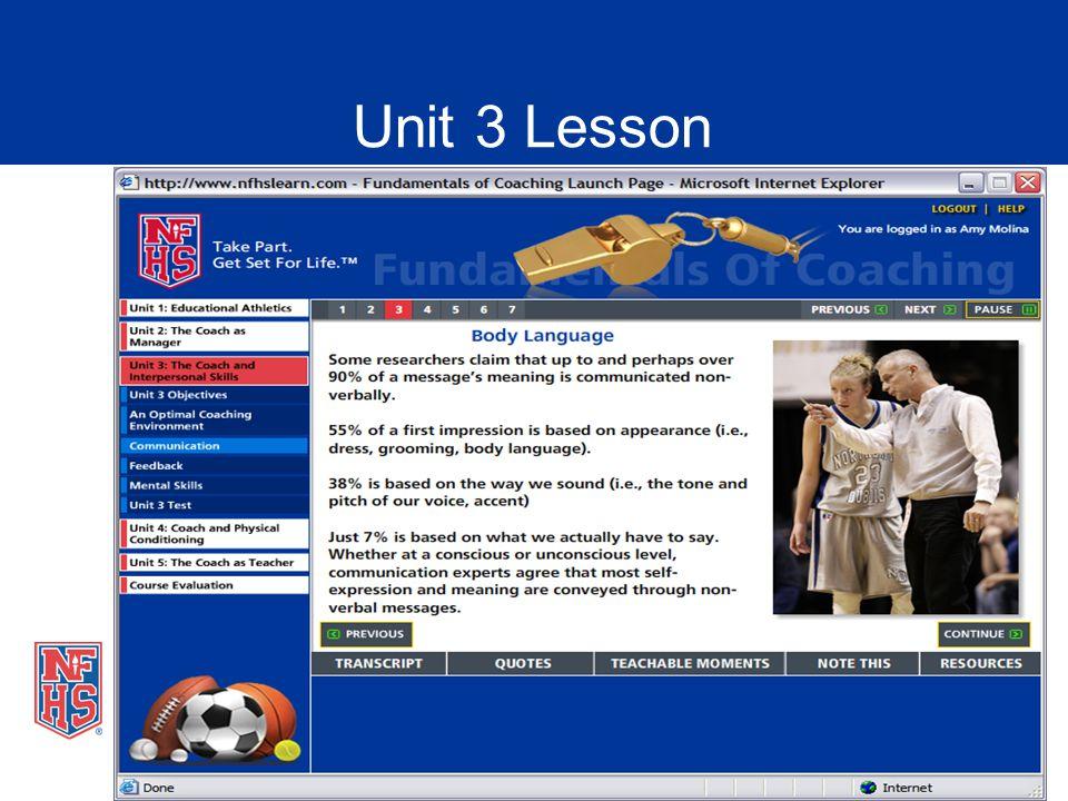 Unit 3 Lesson
