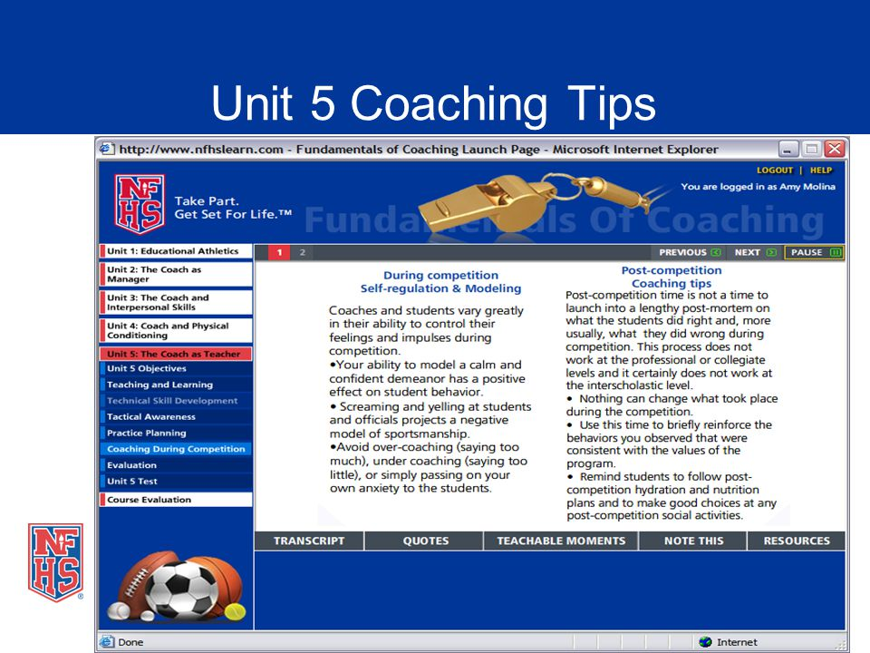 Unit 5 Coaching Tips