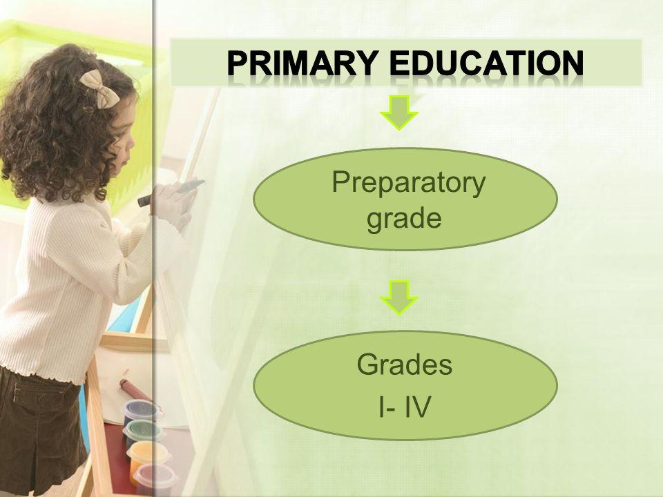 Preparatory grade Grades I- IV