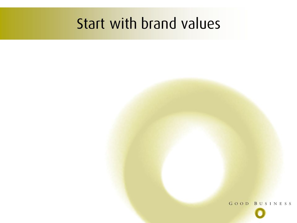 Start with brand values