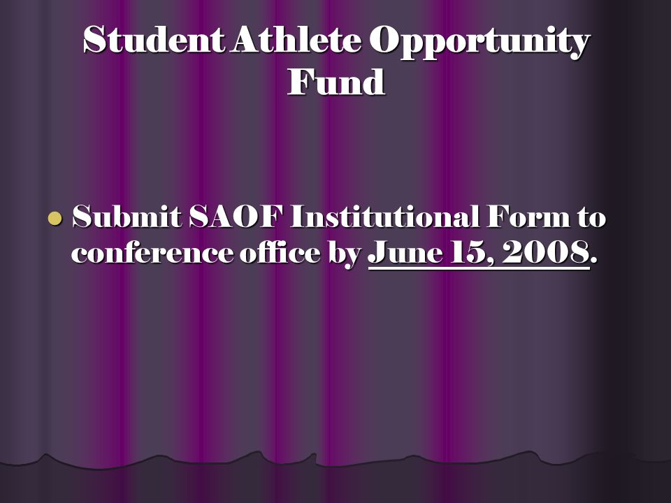 Student-Athlete Opportunity Fund