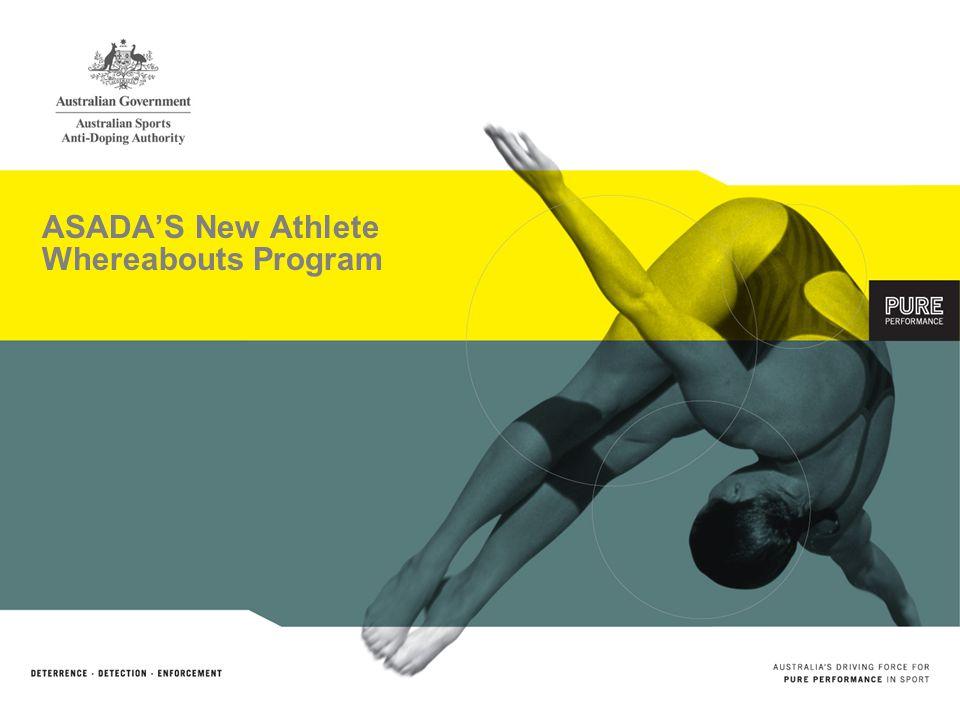 ASADAS New Athlete Whereabouts Program
