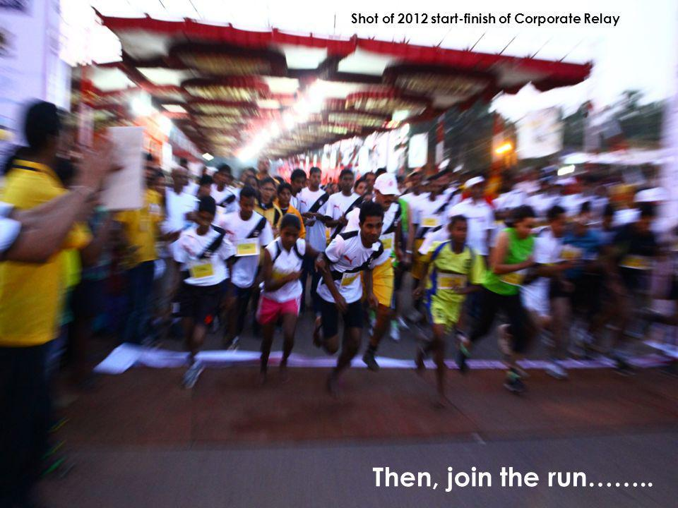 Then, join the run…….. Shot of 2012 start-finish of Corporate Relay