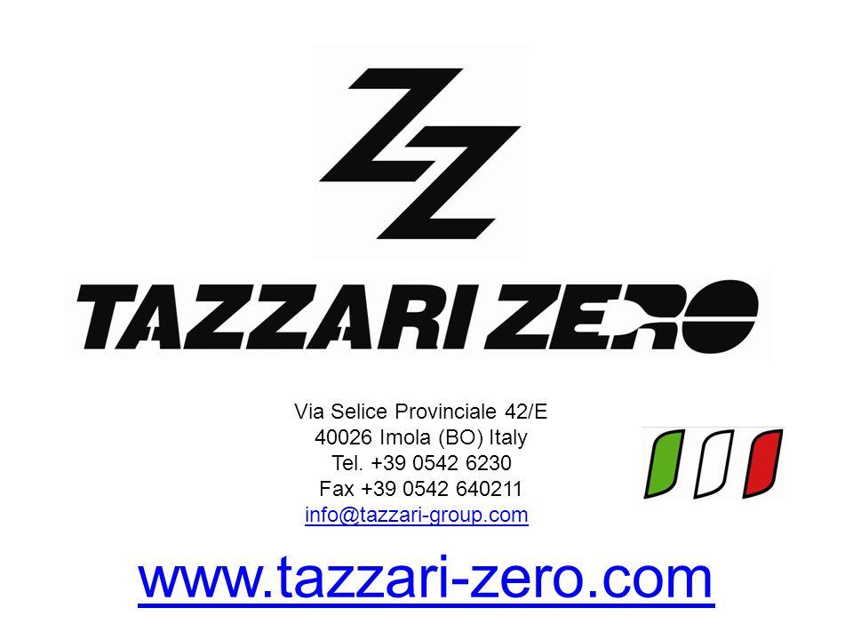 Via Selice Provinciale 42/E 40026 Imola (BO) Italy Tel. +39 0542 6230 Fax +39 0542 640211 info@tazzari-group.com info@tazzari-group.com www.tazzari-ze