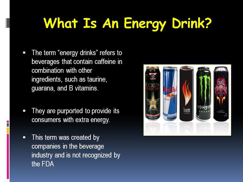What Is An Energy Drink.