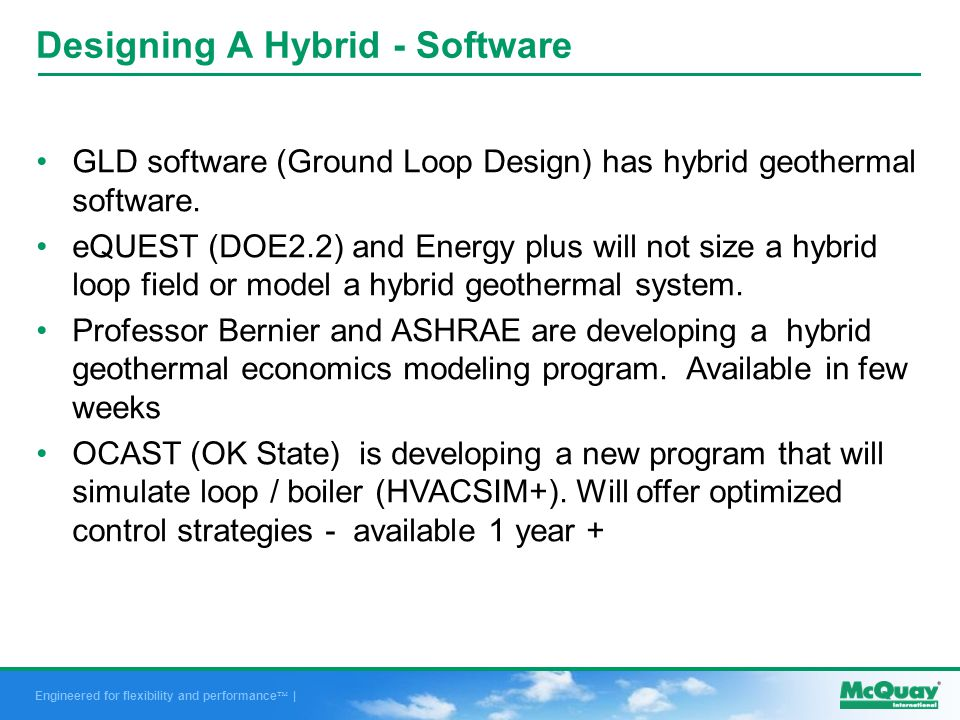 Engineered for flexibility and performance | GLD software (Ground Loop Design) has hybrid geothermal software.