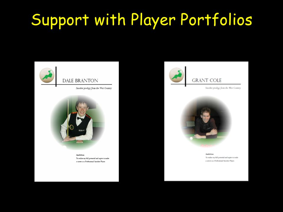 Support with Player Portfolios