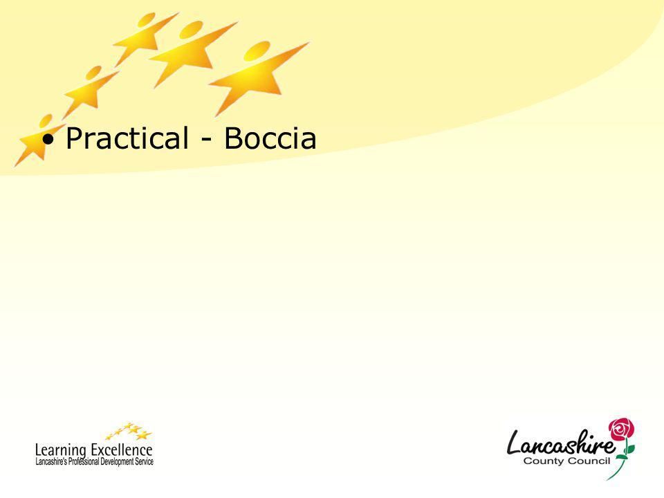 Practical - Boccia