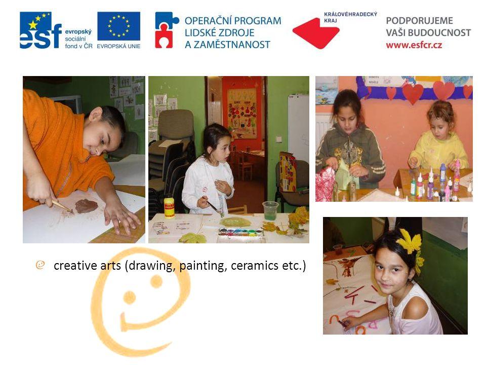 creative arts (drawing, painting, ceramics etc.)