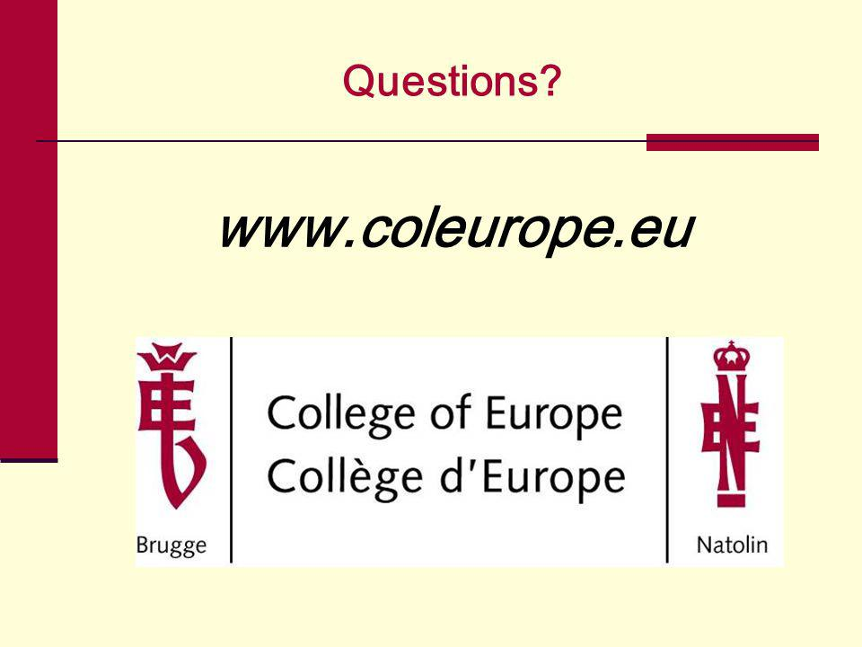 Questions? www.coleurope.eu