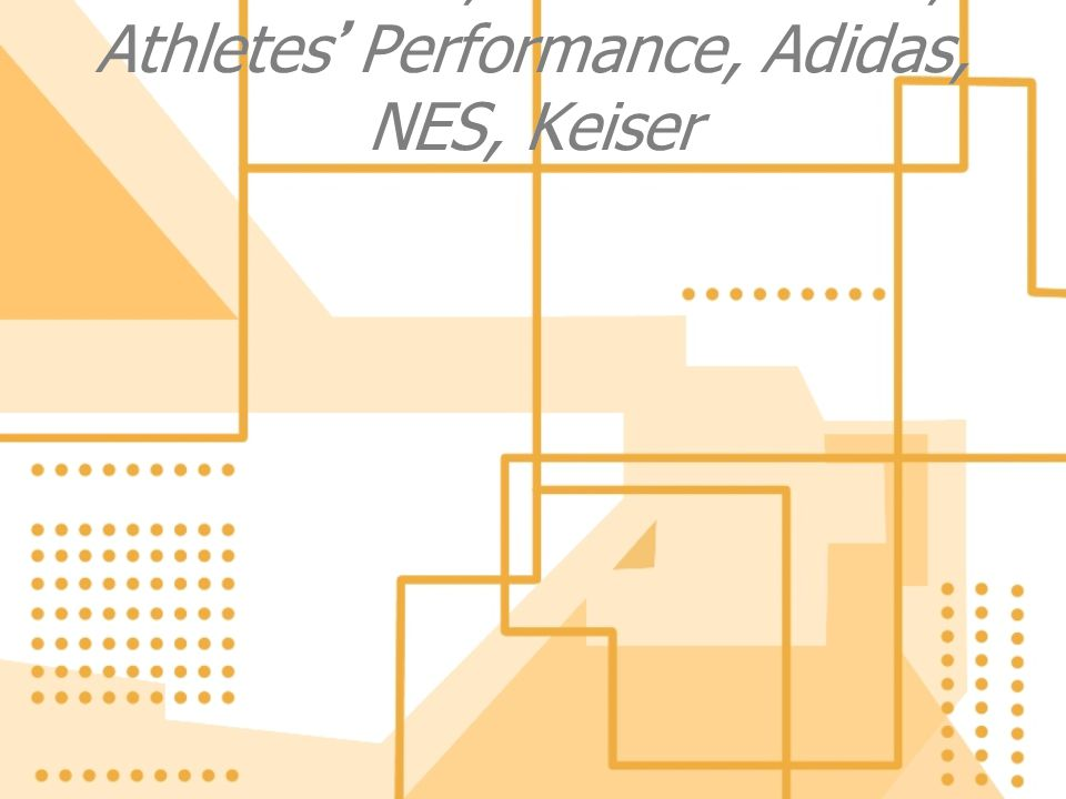 Thanks- TSI, Perform Better, Athletes Performance, Adidas, NES, Keiser