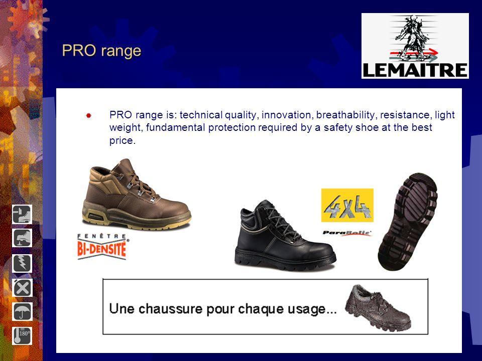 SPORT range The SPORT range is ideal for varied activities and work outdoor or indoor.