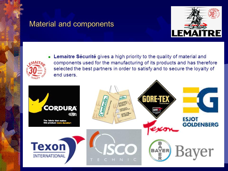 Certifications STANDARD ISO 9002 Since 1998 Lemaitre Sécurité is certified by AFAQ.