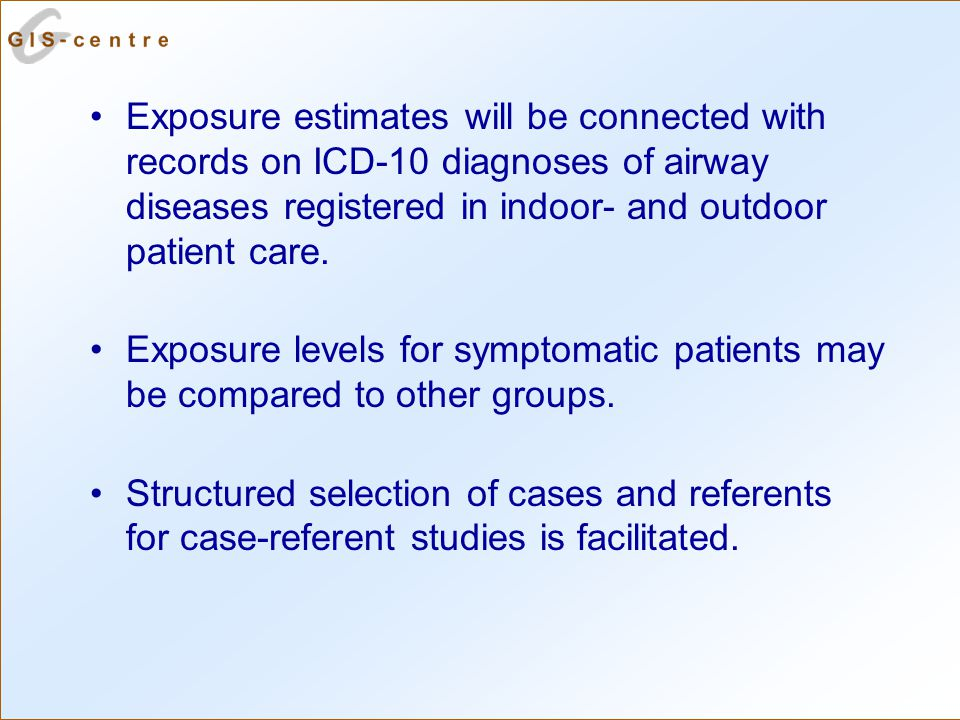 Exposure estimates will be connected with records on ICD-10 diagnoses of airway diseases registered in indoor- and outdoor patient care.