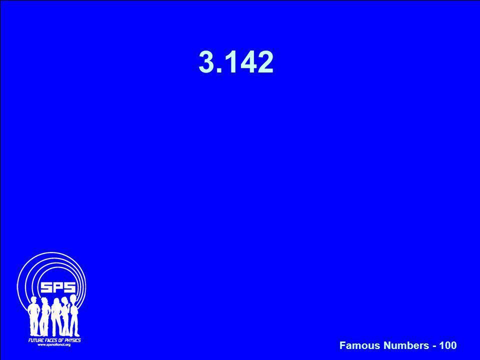 3.142 Famous Numbers - 100