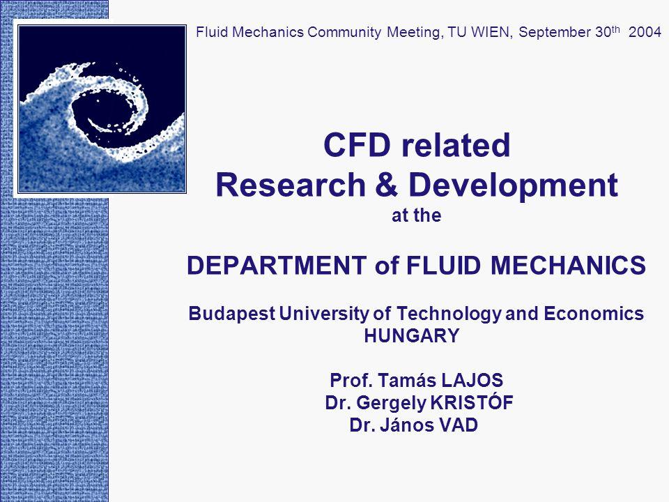 Radial pump simulation: comparison of simulated flow field and PIV data PIV measurementFLUENT simulation Fluid Mechanics Community Meeting, TU WIEN, September 30 th 2004