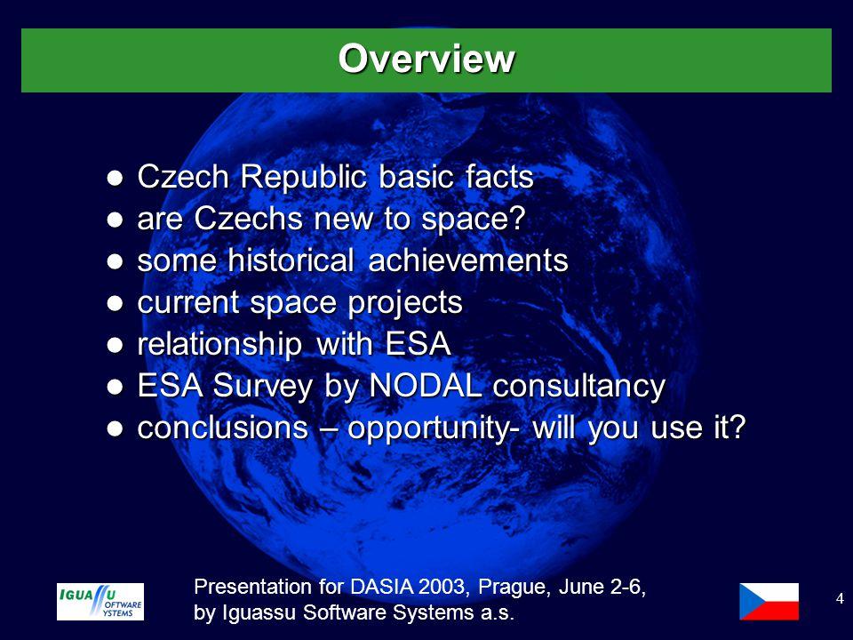 Slide 5 Presentation for DASIA 2003, Prague, June 2-6, by Iguassu Software Systems a.s.