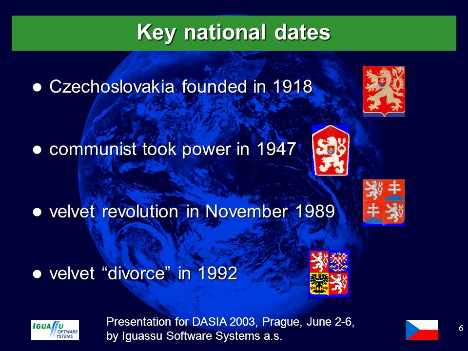 Slide 7 Presentation for DASIA 2003, Prague, June 2-6, by Iguassu Software Systems a.s.