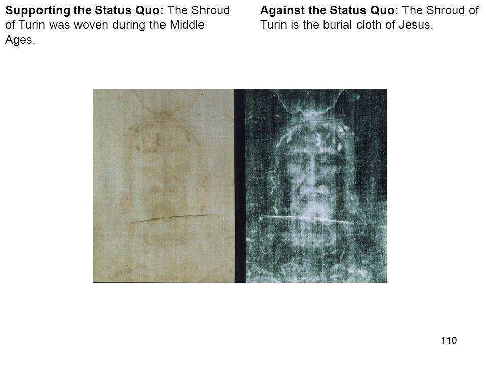 110 Against the Status Quo: The Shroud of Turin is the burial cloth of Jesus.