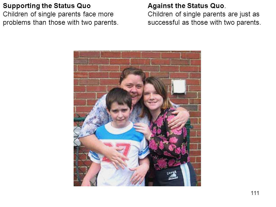 111 Against the Status Quo.