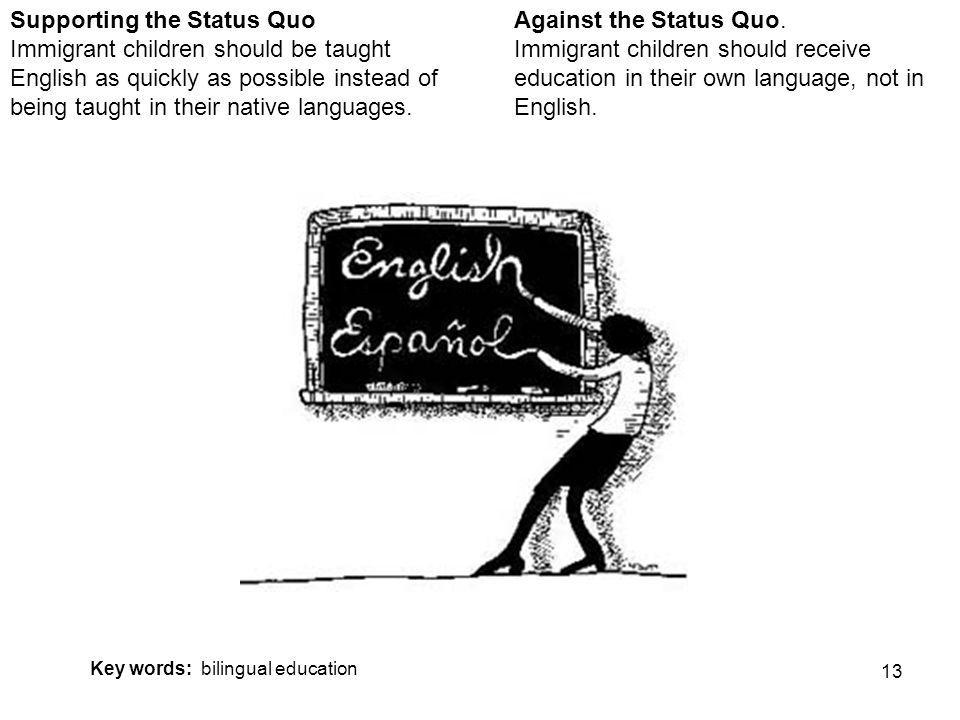 13 Against the Status Quo.