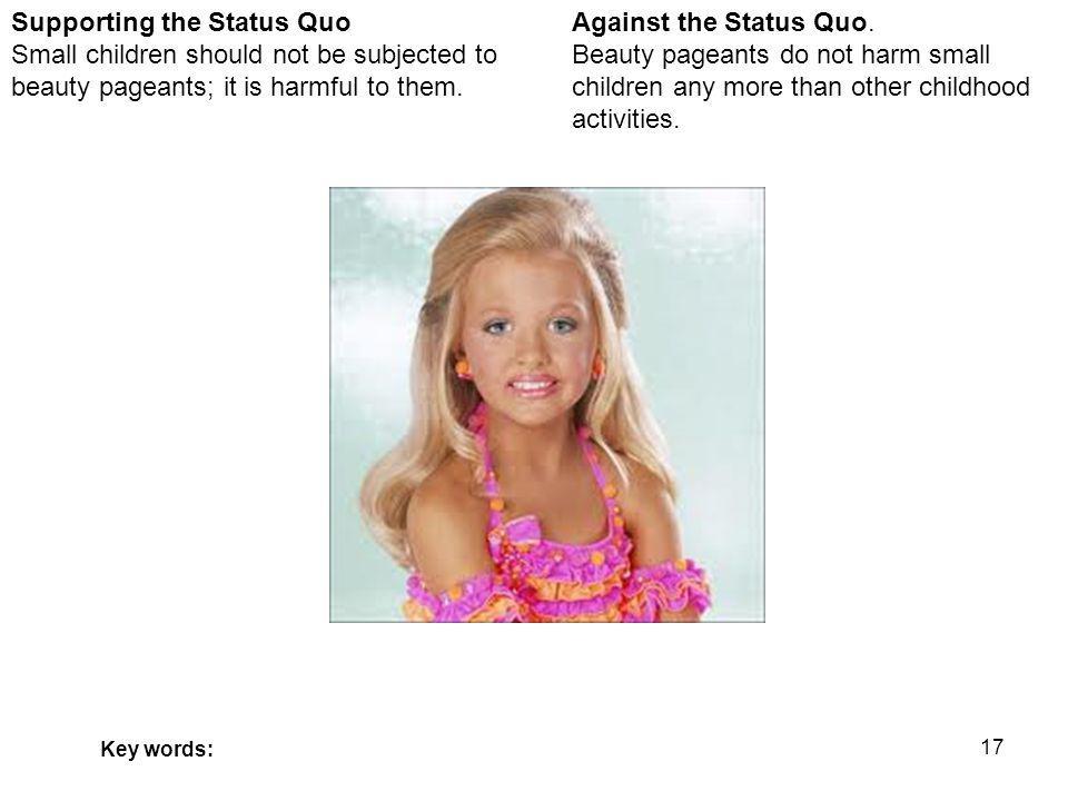 17 Against the Status Quo.