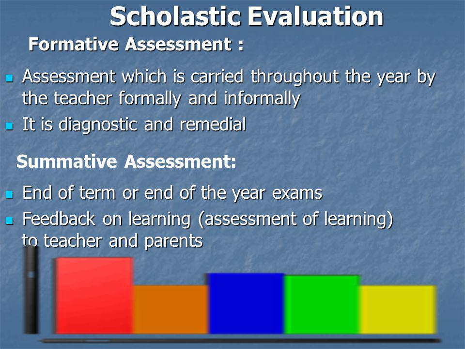 Assessment which is carried throughout the year by the teacher formally and informally Assessment which is carried throughout the year by the teacher