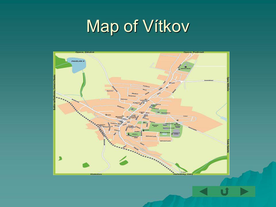 Map of Vítkov