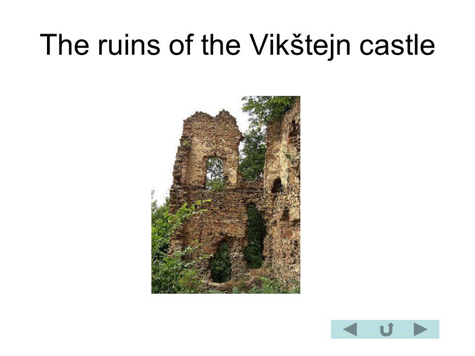 The ruins of the Vikštejn castle