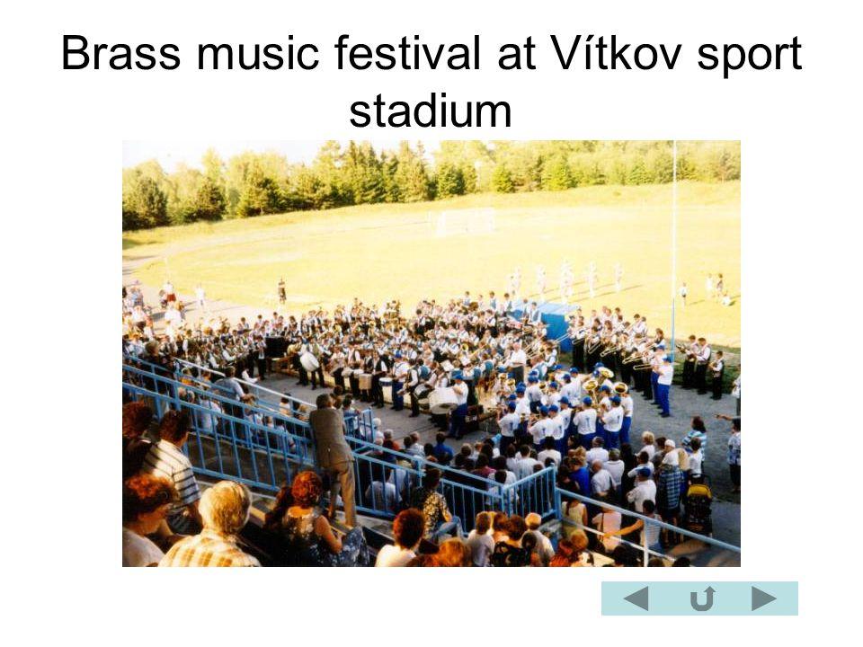 Brass music festival at Vítkov sport stadium
