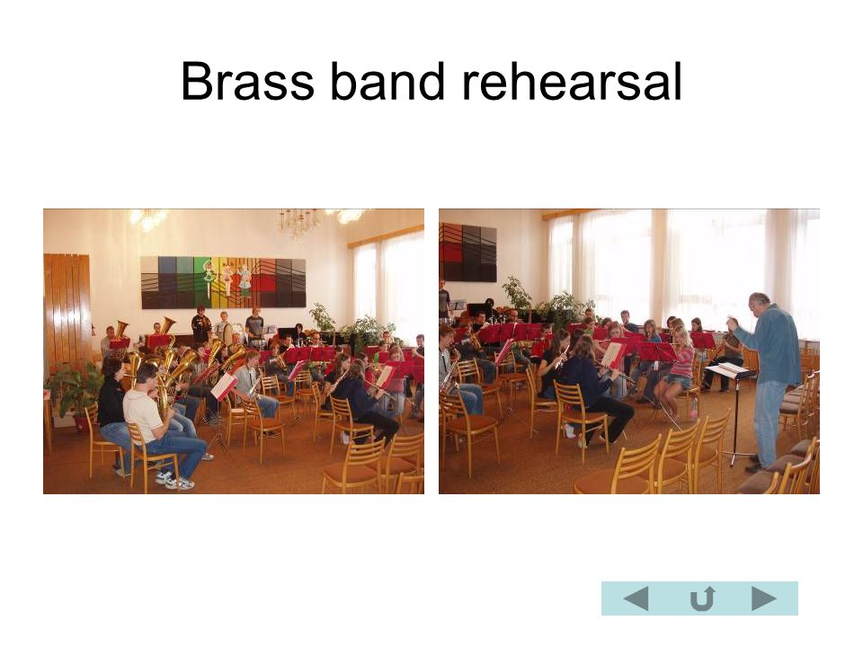 Brass band rehearsal
