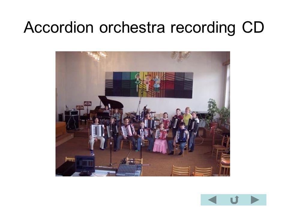 Accordion orchestra recording CD