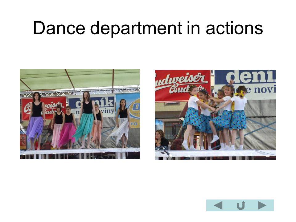 Dance department in actions