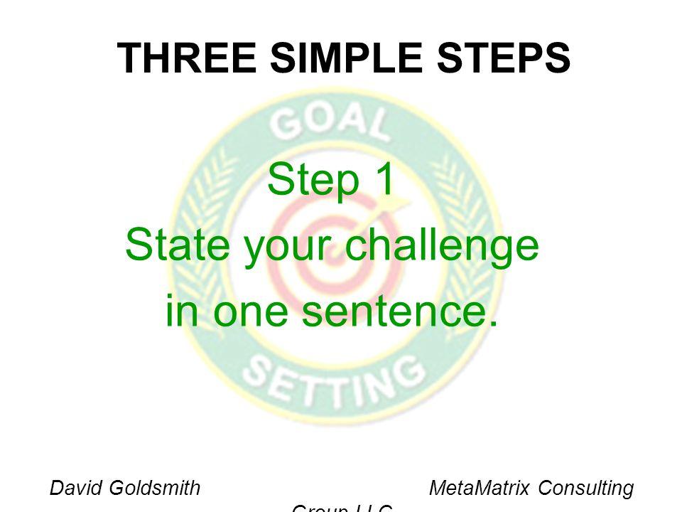 David Goldsmith MetaMatrix Consulting Group LLC Challenge Statement Test Test QuestionsColumn 1Column 2 1.
