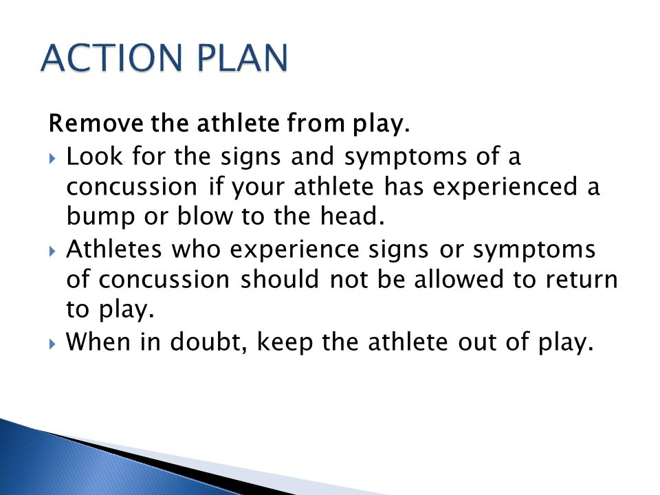 Remove the athlete from play.