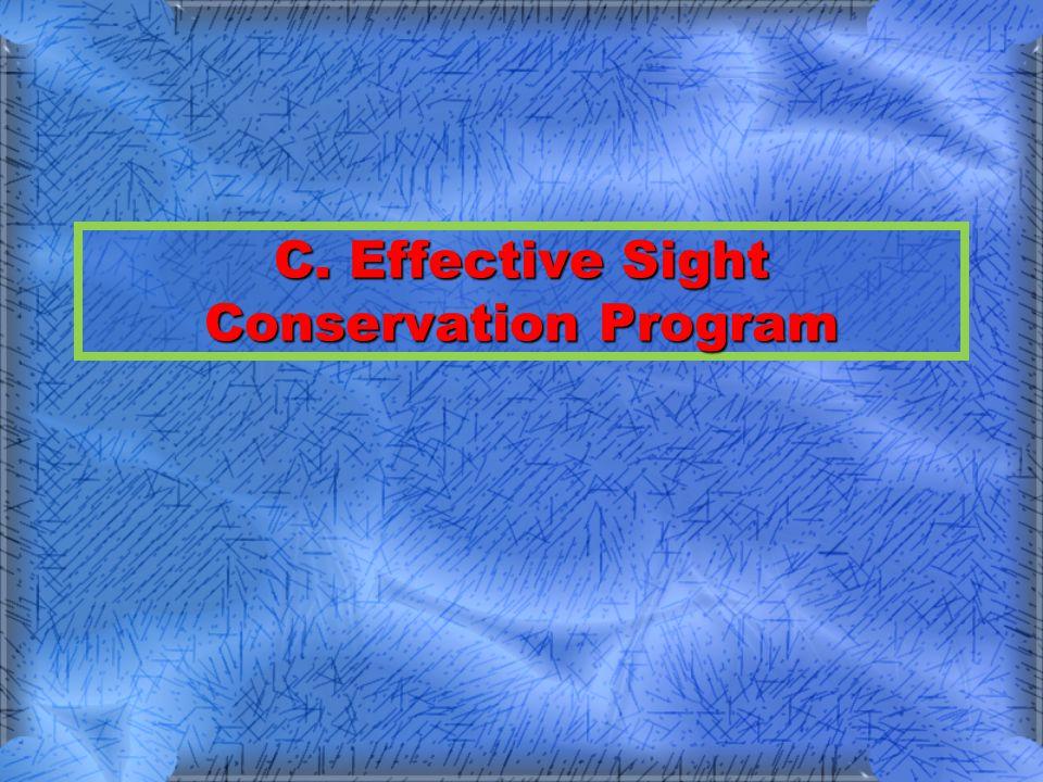 Program Elements Identify eye hazardsIdentify eye hazards –Survey all work areas to determine potential eye hazardous areas