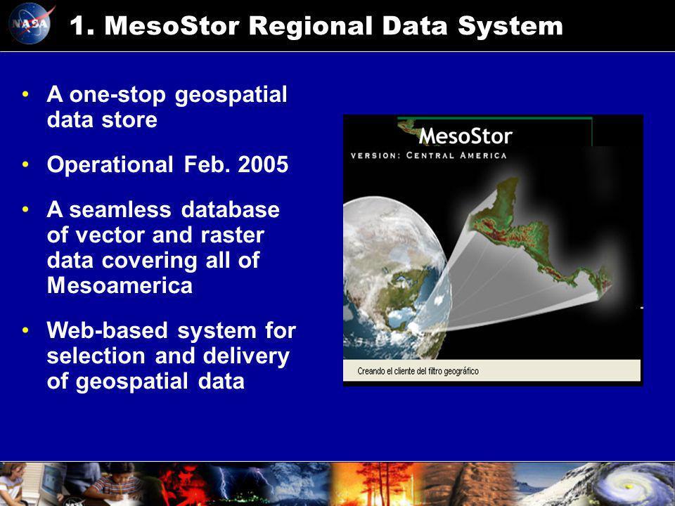 1.MesoStor Regional Data System A one-stop geospatial data store Operational Feb.