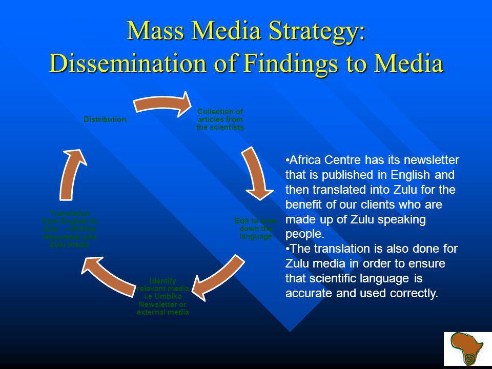 Mass Media Strategy: Videography Videography: This media is very important to show the visual effect of the science activities. Videography: This medi