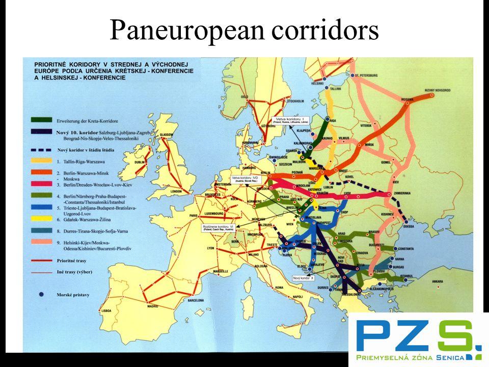 Paneuropean corridors