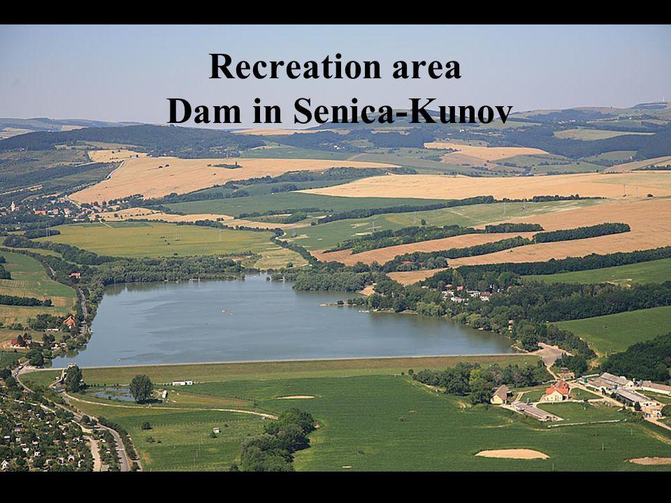 Recreation area Dam in Senica-Kunov
