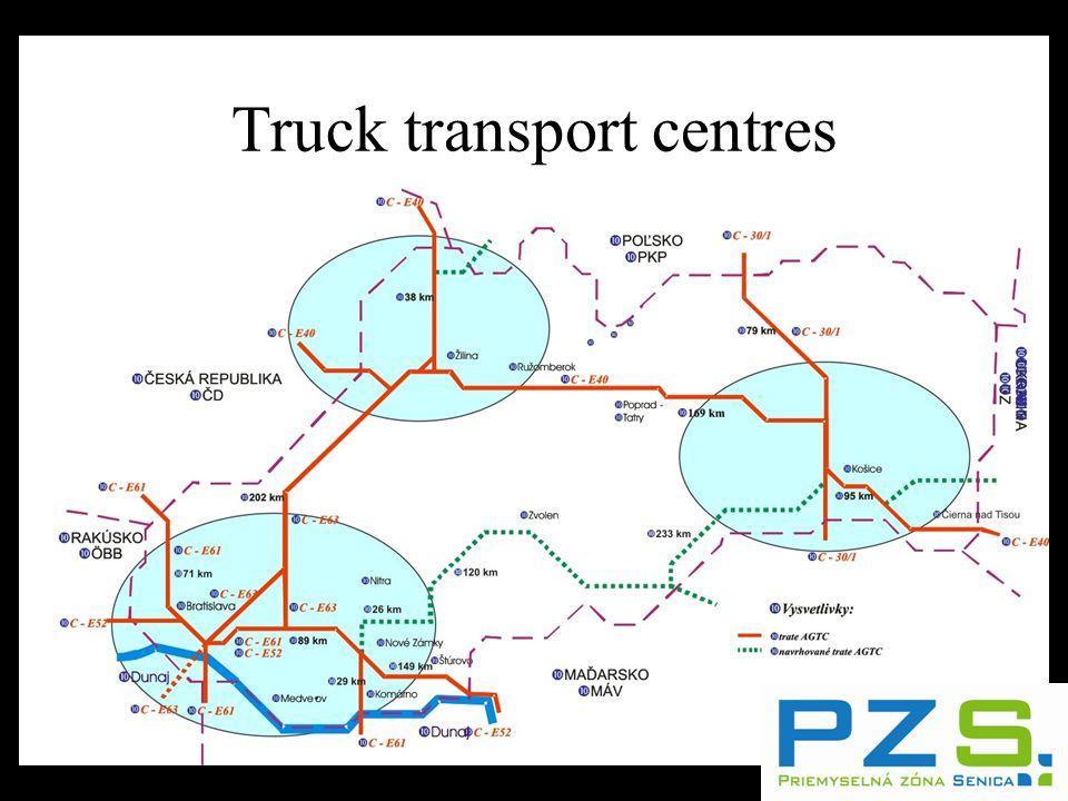 Truck transport centres