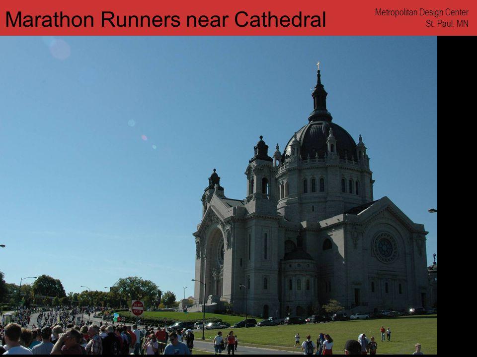 www.annforsyth.net Marathon Runners near Cathedral Metropolitan Design Center St. Paul, MN