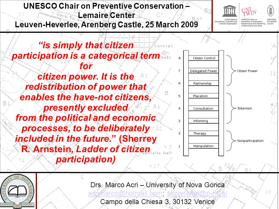 is simply that citizen participation is a categorical term for citizen power.