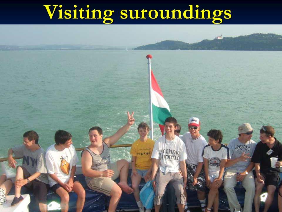 Visiting suroundings