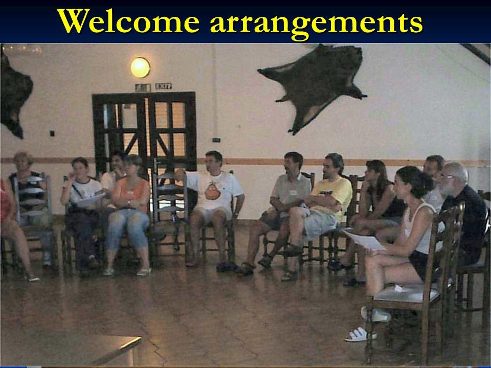 Welcome arrangements