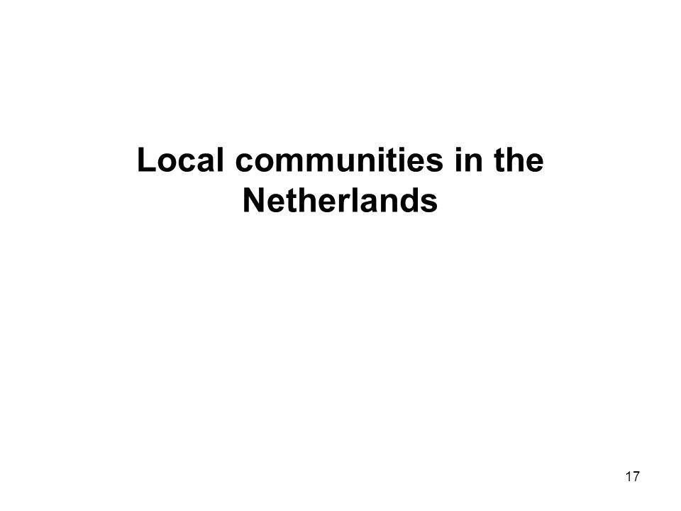 17 Local communities in the Netherlands