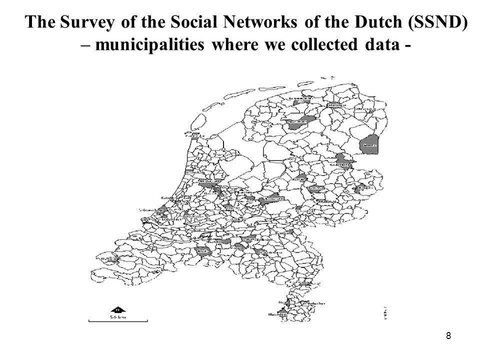 The Survey of the Social Networks of the Dutch (SSND) – municipalities where we collected data - 8