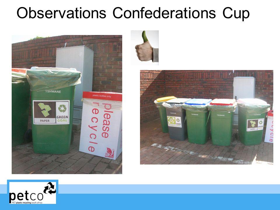 Observations Confederations Cup