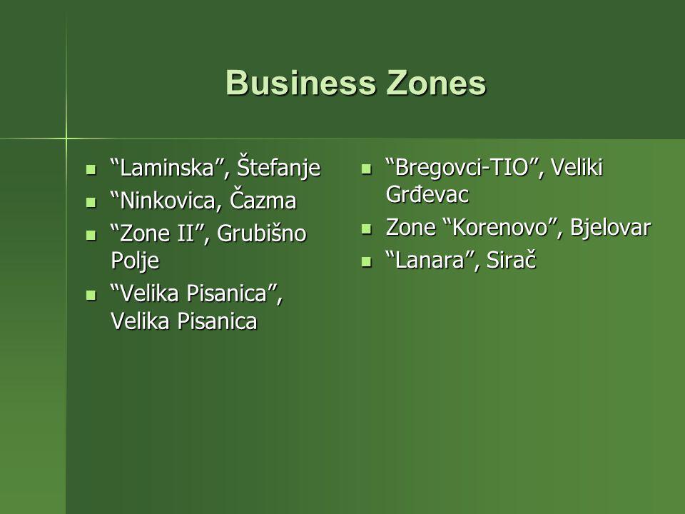 Laminska, Štefanje Laminska, Štefanje Ninkovica, Čazma Ninkovica, Čazma Zone II, Grubišno Polje Zone II, Grubišno Polje Velika Pisanica, Velika Pisani