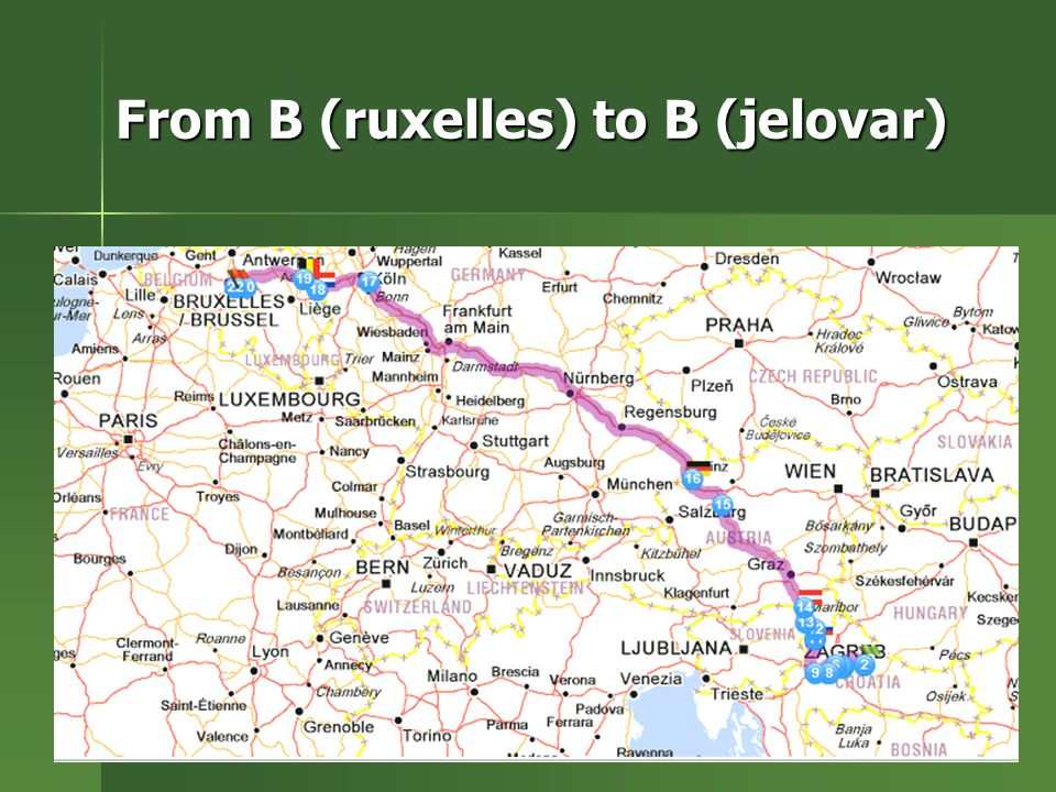 From B (ruxelles) to B (jelovar)